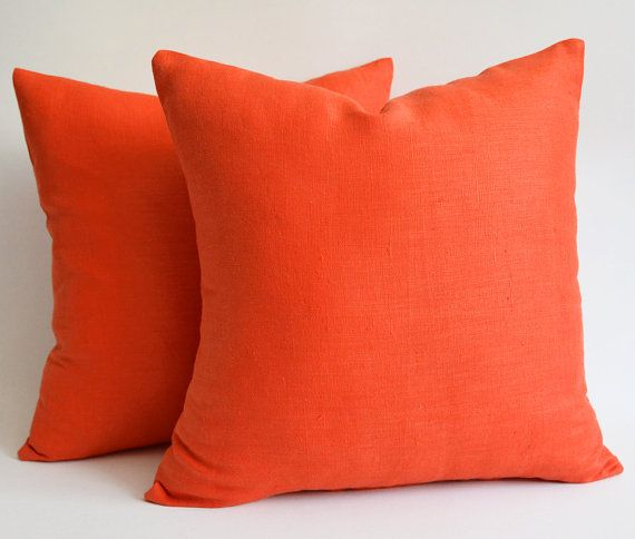 Orange Pillows For Sofa Top Decorative Pillows Couch With ...