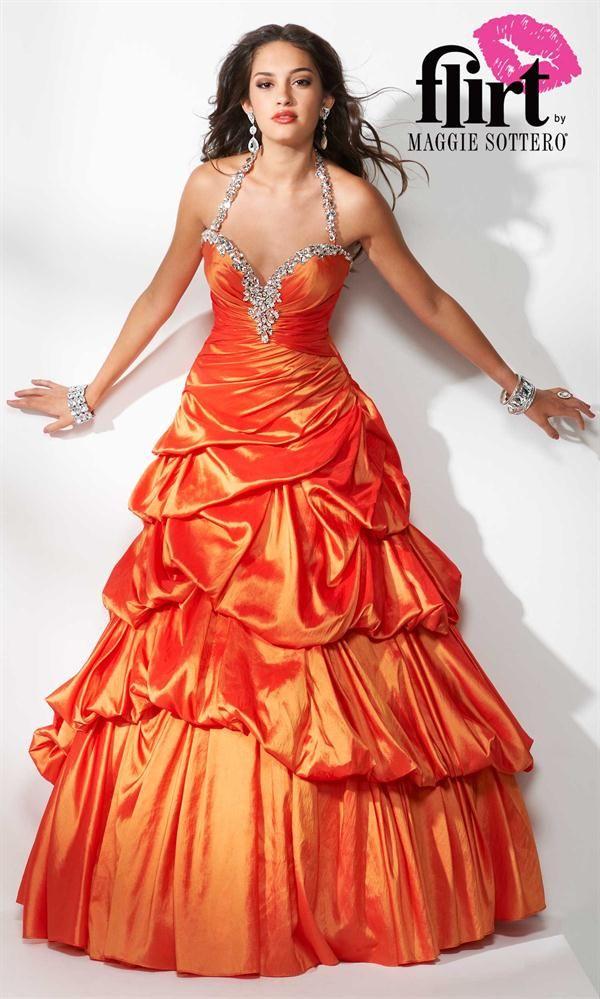 Vestidos de egresadas color naranja