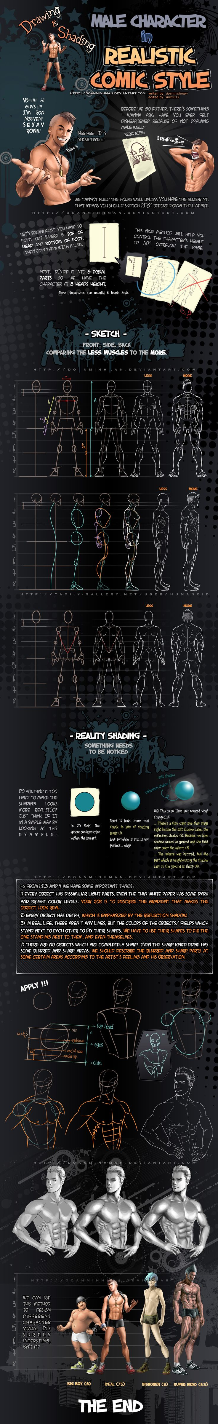 Draw Male in Real comic style by ~doanminhman ★ || CHARACTER DESIGN REFERENCES (https://www.facebook.com/CharacterDesignReferences & https://www.pinterest.com/characterdesigh) • Love Character Design? Join the Character Design Challenge (link→ https://www.facebook.com/groups/CharacterDesignChallenge) Share your unique vision of a theme, promote your art in a community of over 25.000 artists! || ★