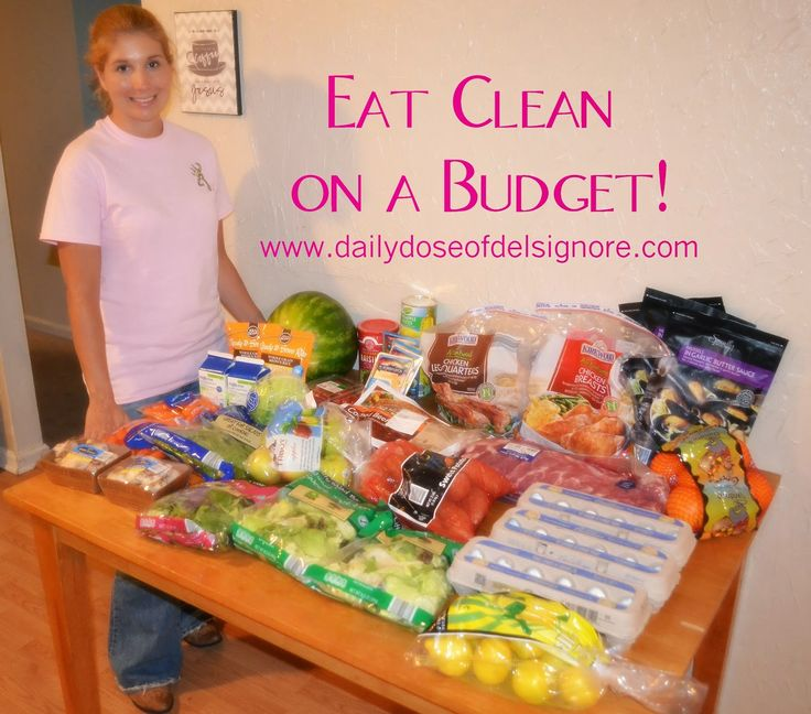 A Daily Dose of Del Signore: Eat Clean on a Budget Menu and Shopping List