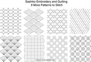 The Beginner's Guide to Sashiko Japanese Embroidery: Eight FREE Sashiko Patterns to Stitch - Set 2