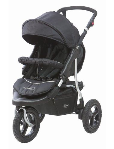 Terrain 3-Wheel Stroller, Black - Article #5830613 NZ$549.00 -  from Steelcraft.  •Suitable from newborn to 17kg •Travel System compatible to fit Safe-n-Sound Eclipse Unity Infant Carrier •Has a recline suitable for newborns •Storm cover •Tyre pump •Weight: 12kg •Folded dimensions: L 78cm x H 28cm x W 68cm •Designed to comply with Australian and New Zealand standard AS / NZS2088 'Prams and Strollers- Safety Requirements' --- Pram 3Wheel OffRoad