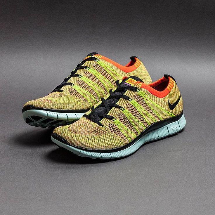 Nike Free Flyknit NSW: Yellow/Orange