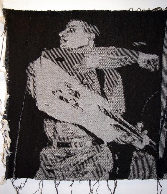 Kill all the boys with the fucked-up noise. vol.2 (detail) Woven textile (arab on radar)