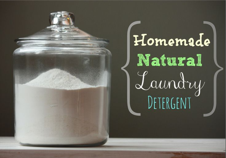 Homemade Natural Laundry Detergent Made Easy - Made with better ( natural) ingredients than most of the DIY detergents.
