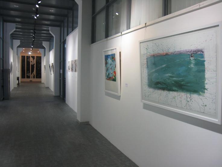 Beijing Art Space installation shot - Peter Kingston & Toshilko Oiyama
