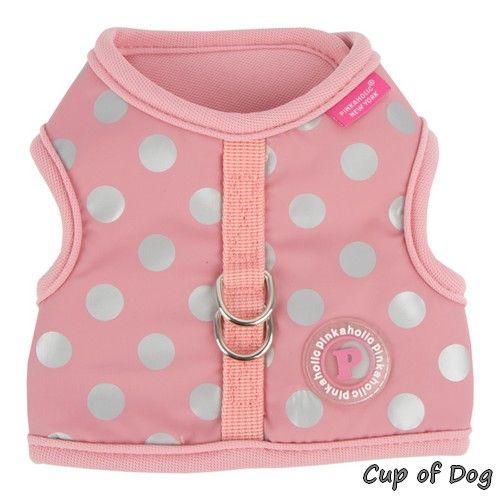 "Harnais ""Chic"" Rose Pinkaholic https://www.cupofdog.fr/collier-harnais-chihuahua-petit-chien-xsl-243.html"
