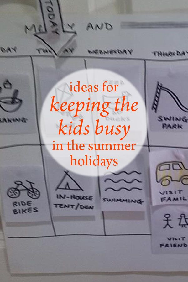 Ideas for keeping the kids busy in the summer holidays: http://bit.ly/2ae5VzL