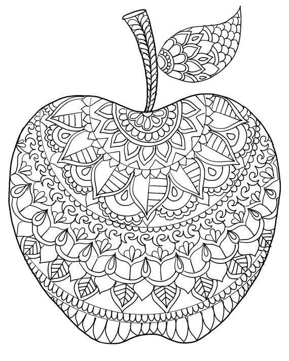 Telecharger Coloriage Pomme Retour A La Page Precedente Mandala Zum Ausdrucken Kostenlose Erwachsenen Malvorlagen Mandalas Zum Ausmalen