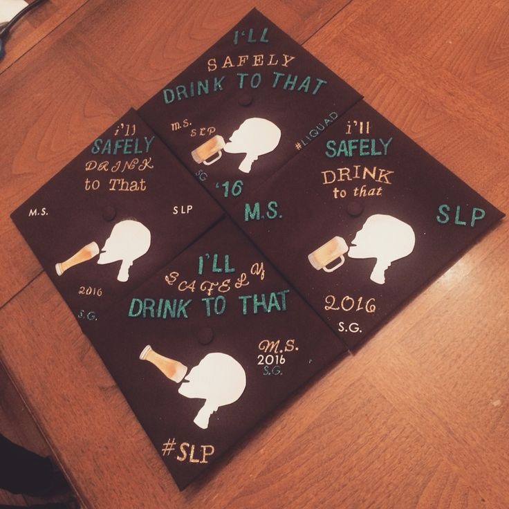 Graduation cap decoration for speech language pathology masters  #SLP #gradcap #gradcapdecoration