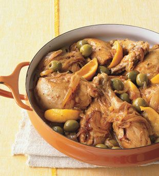 This Moroccan Chicken with Green Olives and Lemon is a go-to recipe that's great for last-minute entertaining
