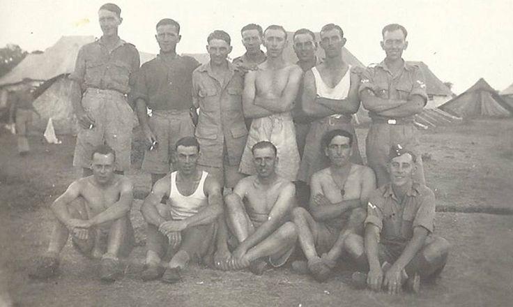 1RWF Group Picture. Pre-March 1943  Rear: Smith, Howells, Tom Davies, Williams, Love, Evans, Jones, Max Jones 19  Front: Wheeler(KIA), Calvert, Cpl Carter(KIA), Marks(KIA), LCpl Evans