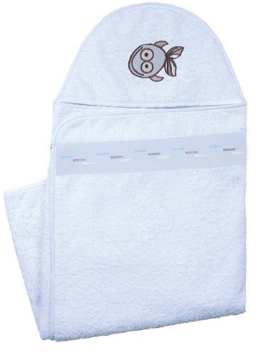 Kushies Hooded Towel - After a bath or a dip in the pool, keep your baby cozy with Kushies hooded towel. Available in other colours