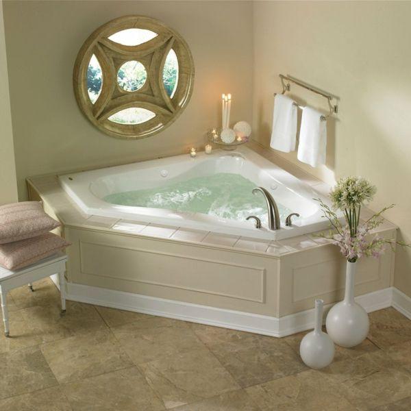 la petite baignoire d 39 angle est la princesse de votre salle de bains maison. Black Bedroom Furniture Sets. Home Design Ideas