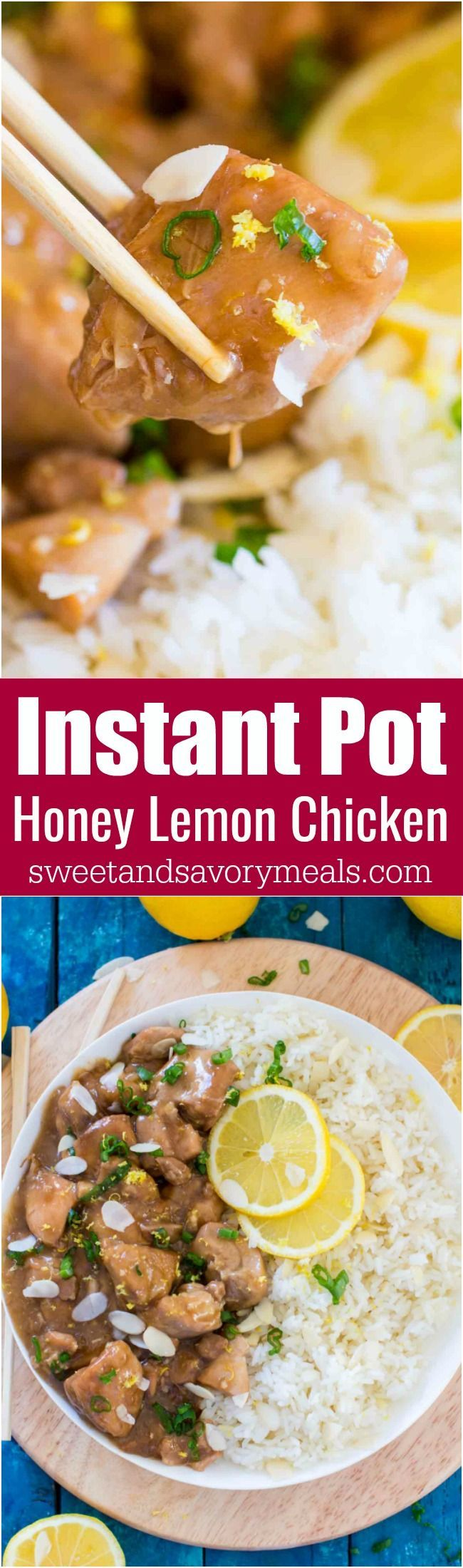 Instant Pot Honey Lemon Chicken is a healthy and delicious meal, that is packed with amazing flavors and is ready in just 30 minutes. #instantpot #chicken #pressurecooker