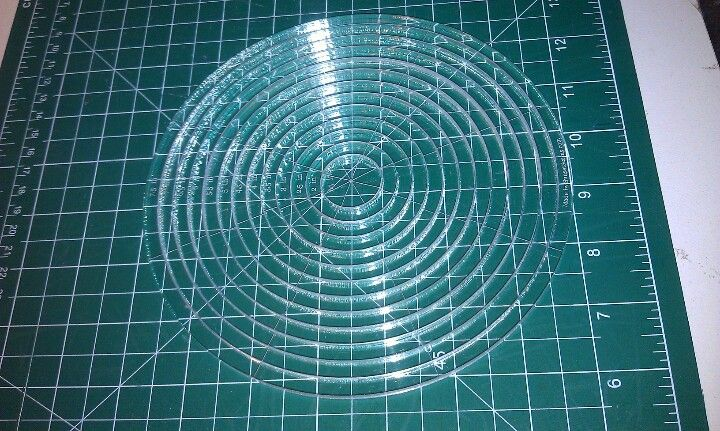 7 inch diameter circle template - nested circles 12 pieces 1 5 inch diameter up to 7 inch