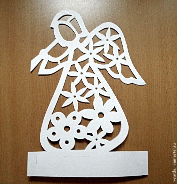 """Мастерим подсвечник """"Ангел из картона"""" - Ярмарка Мастеров - ручная работа, handmade"""