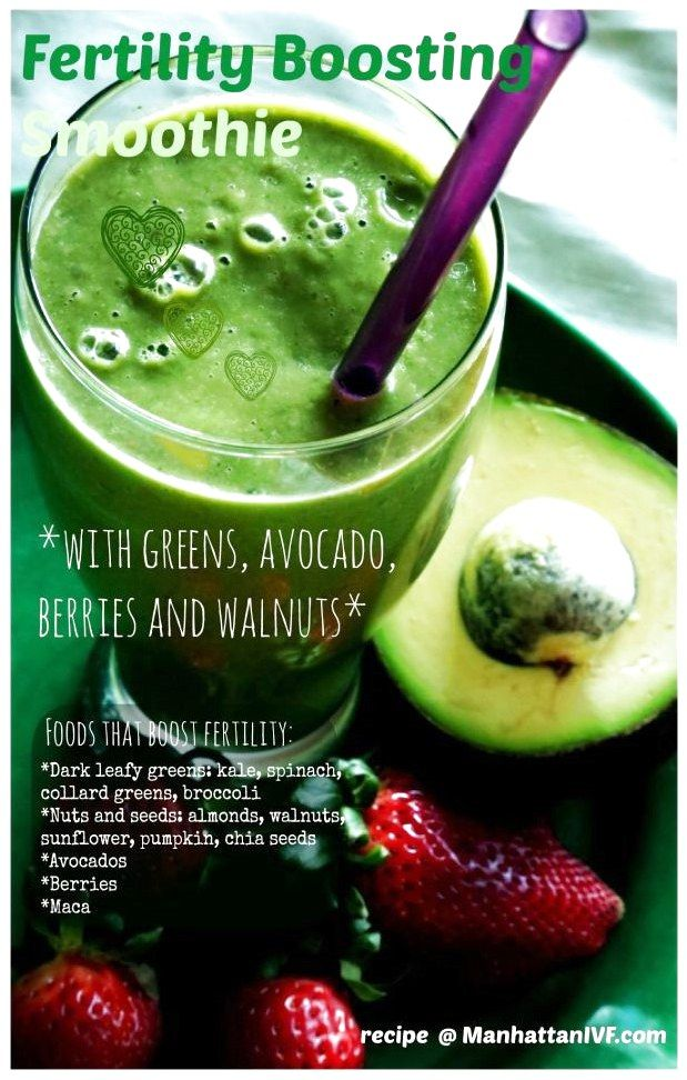 Fertility Boosting Green Smoothie   Find recipe   #GreenSmoothieRecipes click to… – Green smoothie recipes