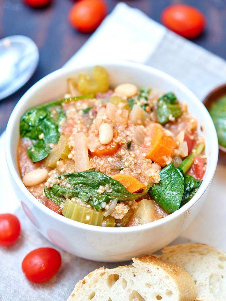The Best Quinoa Minestrone #minestrone #soup #dan330 http://livedan330.com/2015/03/04/best-quinoa-minestrone/