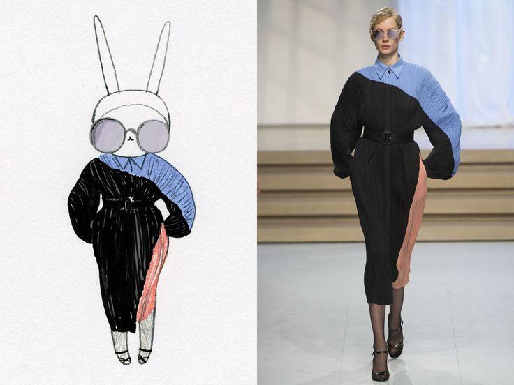 Fifi Lapin wears Jil Sander