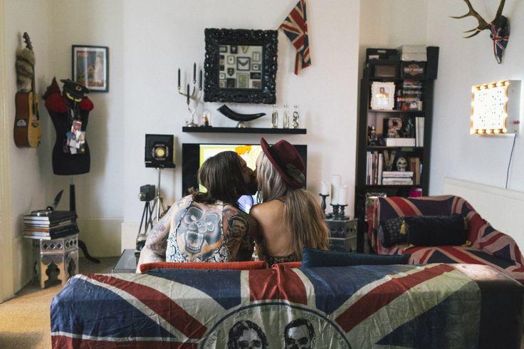 Ev dekorasyon fikirleri ve Hipster çiftin evi