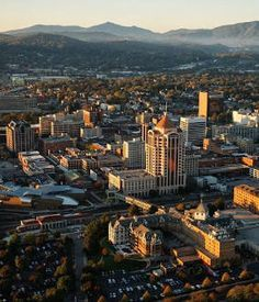 Roanoke, Virginia USA Skyline Downtown