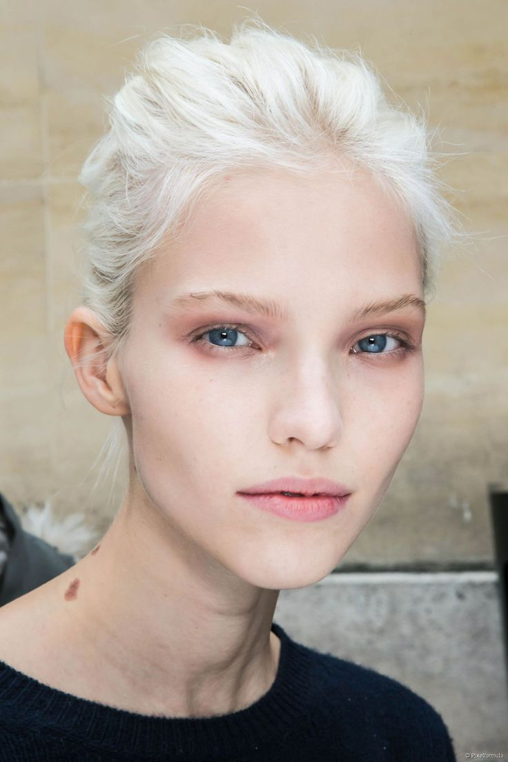 White Blonde Can Look Very Striking On Pale Skin Face It