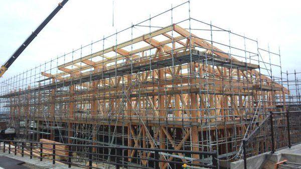 """堀川憲司 on Twitter: """"今日は新社屋の上棟式でした。土台だけの時は狭く見えたけれど、梁が入ると建物は大きく見えるものですなあ。 https://t.co/ATe8rFlzBF"""""""