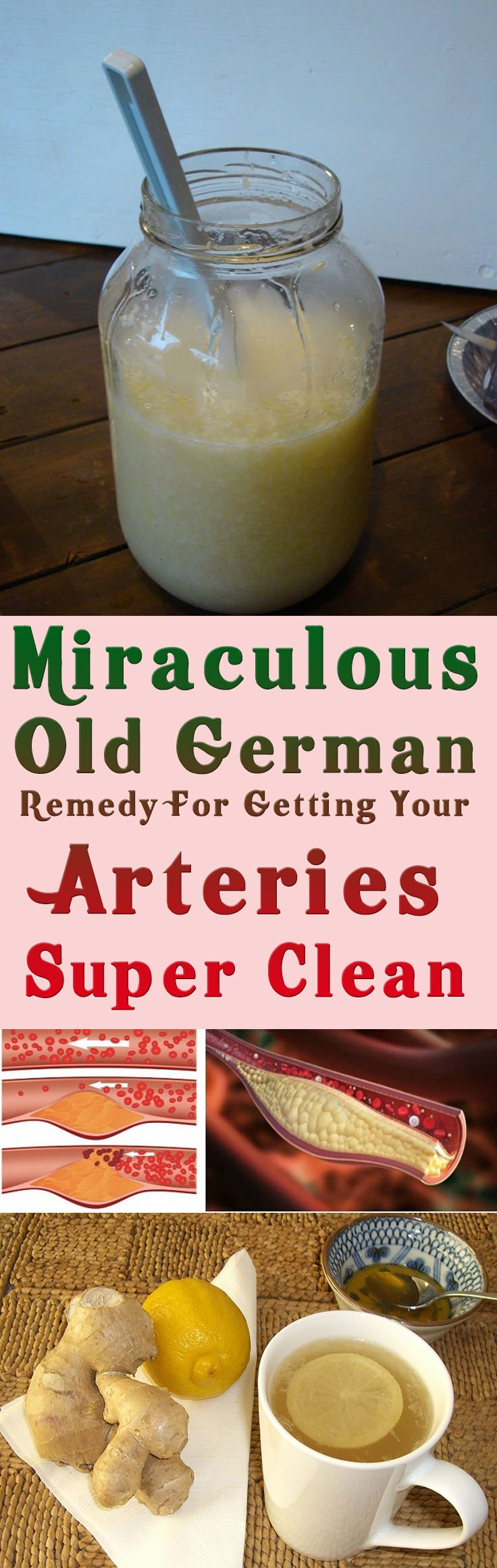 Miraculous Old German Remedy For Getting Your Arteries Super Clean #health #diy #beauty #fitness