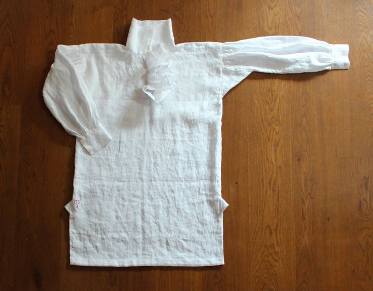 Regency officer and gentleman shirt. Made of linen with mother-of ...