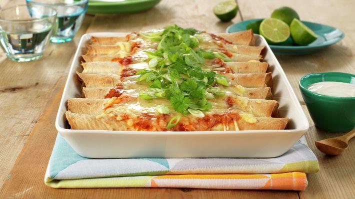 Enchiladas med kylling - Familien - Oppskrifter - MatPrat