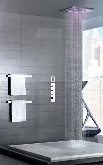 Best Gessi Images On Pinterest Bathroom Ideas Bathroom - Contemporary waterfall faucets riflessi from gessi