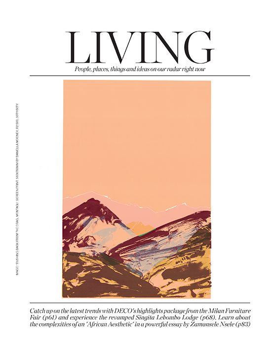 109 Africa Openers:  'RUSHING BACK FROM THE CRAG, MONTAGU' - screen print by Daniella Mooney for 50TY/50TY