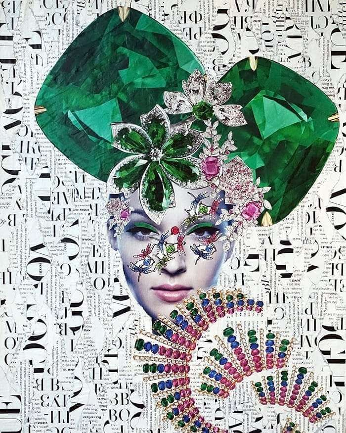"""Saatchi Art is pleased to offer the collage, """"*,"""" by Emilia Elfe. Original Collage: Paper on Paper, Cardboard. Collages, Collage Artists, Art Therapy Projects, Art Projects, Textiles Sketchbook, Emilia, Magazine Collage, Magazine Art, Fashion Collage"""