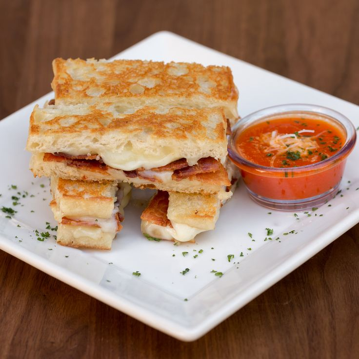 Truffle-Bacon Grilled Cheese Sticks:  Grilled artisan bread with creamy melted cheese, truffle oil and bacon.