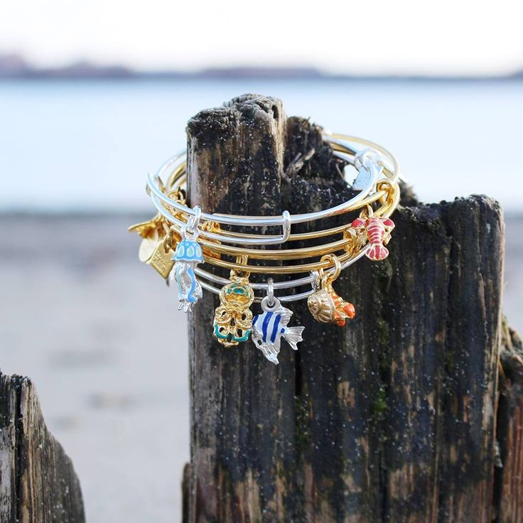 ALEX AND ANI CHARITY BY DESIGN Deep Sea Wonders Collection supporting UNICEF | UNICEF Summer Collection | Lobster Charm bangle |Angel Fish Charm Bangle | hermit Crab Charm bangle | Octopus Charm bangle | Jelly Fish Charm Bangle