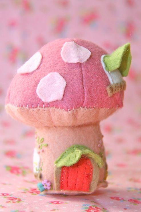 Fairy Mushroom Pincushion,Fairy Mushroom Pincushion is a fabulous and cute way to keep those pins and needles close at hand,fairy mushroom,Cosmo threads,