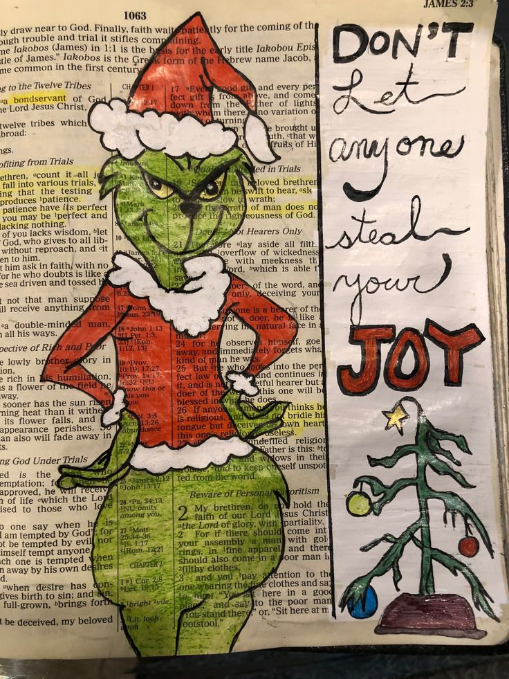Don't let anyone steal your joy. #biblejournaling #grinch #merry Christmas
