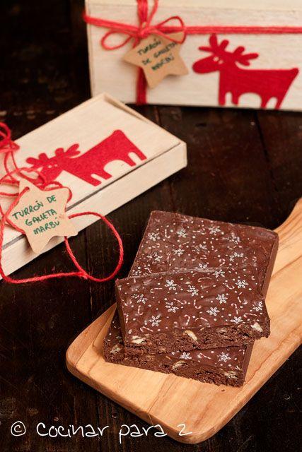 Turrón de chocolate con galleta #navidad #diy #handmade #recetas