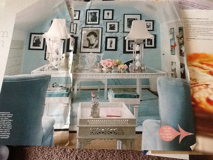 Tiffany blue office home style pinterest blauw tiffany blauw en blauw kantoor - Kantoor deco ...
