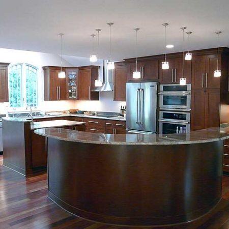 Circular kitchen island