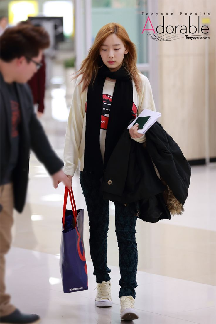 Snsd Taeyeon Korean Stars Airport Fashion Casual Style Pinterest Posts Snsd And Photos