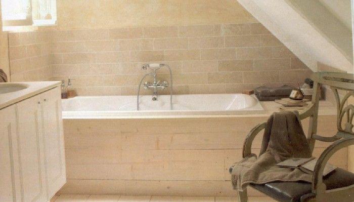 baignoire tablier en planches