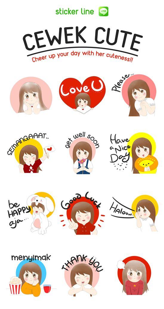 Cerahkan chat room kamu dengan stiker cewek cute :) http://line.me/S/sticker/1292198