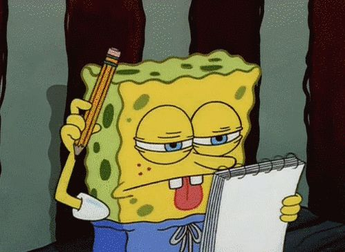 spongebob the essay gif 20 'spongebob' gifs that perfectly describe college it's really amazing how similar a college students life is to that of spongebob's an essay due monday.