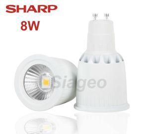 Ampoule led COB gu10 avec led 8W marque Sharp Blanc Chaud 3000k diffusion 38° Garantie 2 Ans