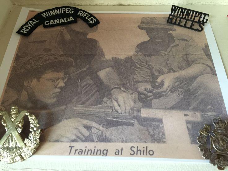 Training recruits at Camp Shilo in Manitoba