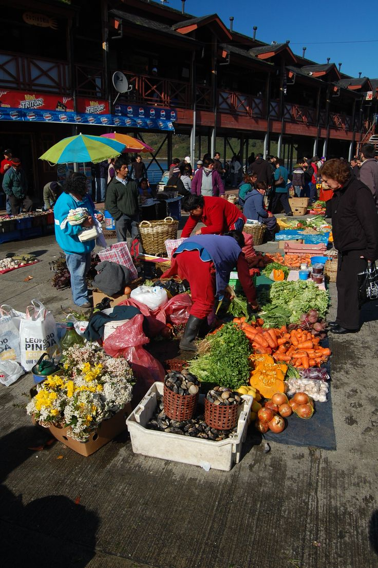 Outdoor market in Puerto Montt; Chile Eureka Travel #SouthAmerica