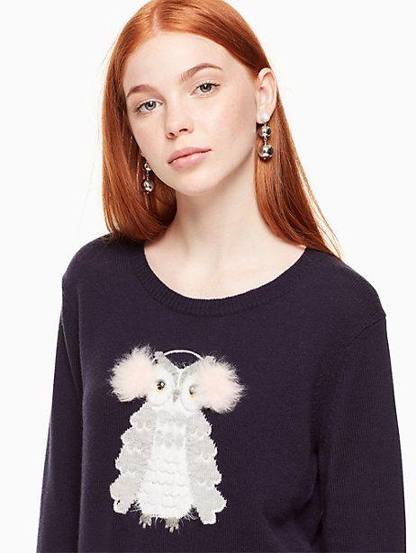 Kate Spade Owl Sweater, Navy - Size XXS