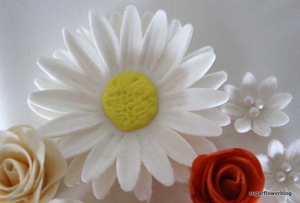 How to make a Shasta Daisy Flower from fondant or gum paste - Karen's Sugar Flower Blog